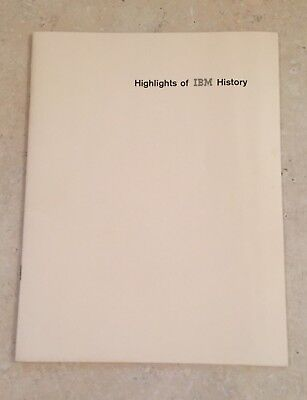 Vintage 1972 Highlights of IBM History Booklet Company Brochure