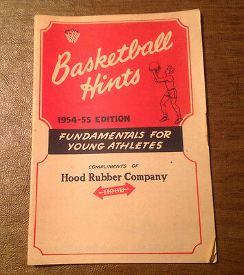 Vintage Basketball Hints 1954 1955 Edition c/o Hood Rubber Company Shoes, P-F