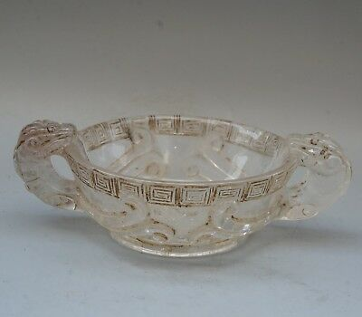 China Exquisite Hand-carved beast Carving crystal cup