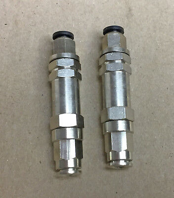 "Brass Nickel 1/4"" Tube Push To Connect Inline Check Valve One Way Valve Lot of 2"