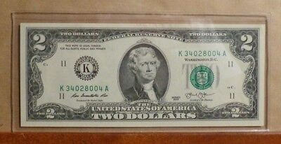 Uncirculated - 2 DOLLARS BANKNOTE K34028004A - 2013 - United States