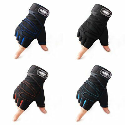 Half-finger Cycling Gloves Weightlifting Protective Gloves with Wrist Guards EC