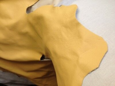 Genuine Leather Hide - Buttercup Yellow