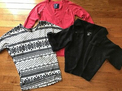 Rue21 American Eagle Womens Tops Sweater Lot Size L Large Shirts Pink Black