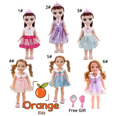 """5 Pcs Doll Clothes Fashion Party Dress Outfit for 14"""" American Girl w/ Free Gift"""