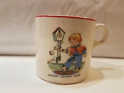 Antique Hickory Dickory Dock Child's Cup