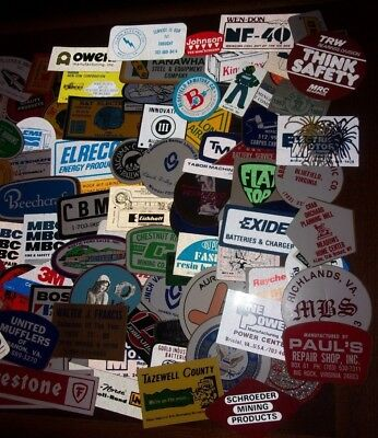 Lot Of 300+ Vintage Stickers Decals Umwa Coal Mining Service Business Auto