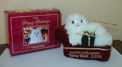 Fancy Feast 2004 Cat on a Couch Ornament, NIB