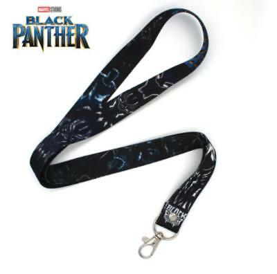 Avengers Black Panther Phone Rope Chain Camera Strap Clip Charm Lanyard Keychain