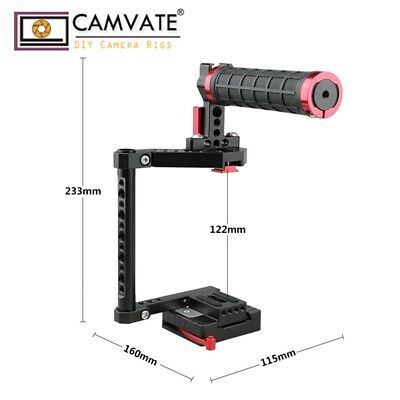 CAMVATE DSLR Camera Cage Top Handle for Canon 80D EOS M3 GH5 D810 Fujifilm X-T2