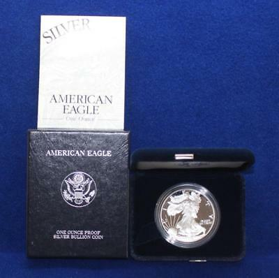 1999-P AMERICAN SILVER EAGLE $1 DOLLAR PROOF COIN w/ BOXES & COA