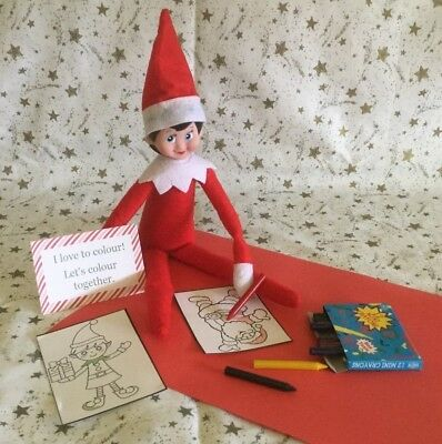 Handmade Christmas Accessories / Colouring Set Compatable with Elf on the Shelf