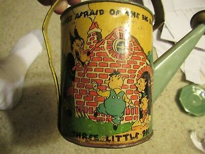 Walt Disney Enterprises Ohio Art Sprinkling Can Three Little Pigs - HTF