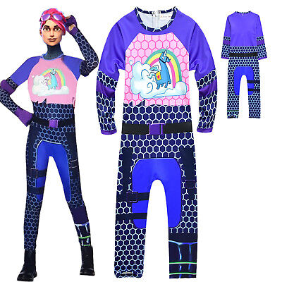 Fortnite Brite Bomber Cosplay Costume Halloween Party Girl Boy Jumpsuit Clothes