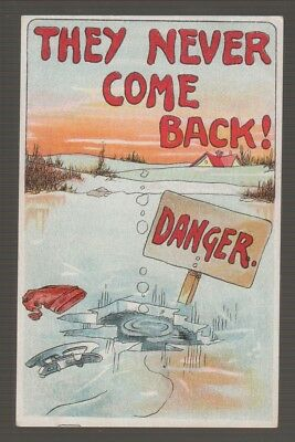 "[38993] 1915 Postcard Artist Signed Carmichael ""they Never Come Back!"""