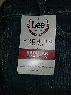 LEE MEN'S Premium Select Denim Regular Straight Leg  20019 42x30 Active Comfort
