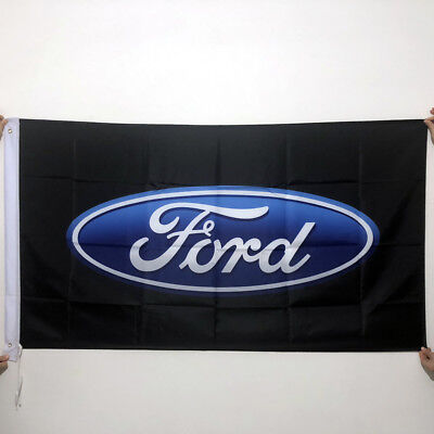 Ford Flag Banner 3x5 Ft Motor Company Car Black Free Shipping 90X150cm Flag/071