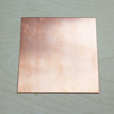 Select Thick 0.2mm - 0.6mm Copper Sheet Plate Guillotine Cut Metal Copper Sheet