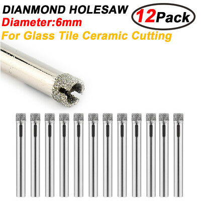 12pack/set Diamond Cutter Hole Saw Drill Bit Tool 6mm Set For Tile Ceramic Glass
