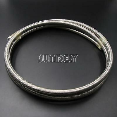 6Mm 8Mm 10Mm 13Mm Stainless Steel Braided Ptfe Teflon Fuel Hose Line Oil Petrol
