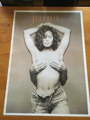 Janet Jackson Vintage Made In England Poster Last One