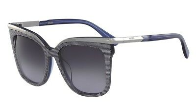 a689b79a3d2 MCM 54mm Squared Cat Eye Sunglasses Blue Lurex Made in Italy MSRP  310 With  Case