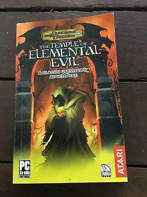 D&D Temple Of Elemental Evil - 2003 Game Manual Only
