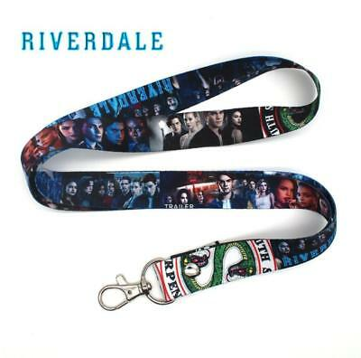 Riverdale South Side Serpents Phone Rope Chain Strap Clip Charm Lanyard Keychain