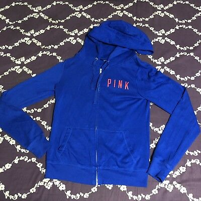 Victorias Secret PINK Chicago Cubs Blue Red Sequins Hoodie Sweatshirt Size Small