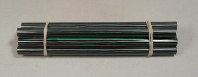 Beautiful rare lot of galalith green marbled 8 rods 272 grams