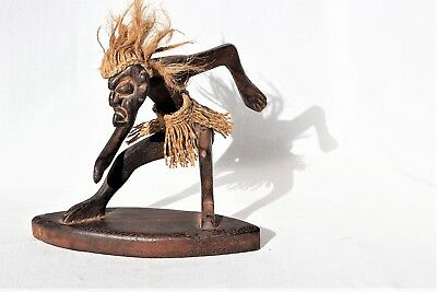 Carved Wood African Tribal Art Sculpture Hawaii Tiki Indonesian Wooden Statue