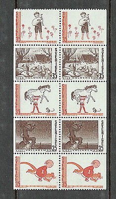 Sweden 1969 Se-tenant Strip Swedish Fairy Tales - MUH
