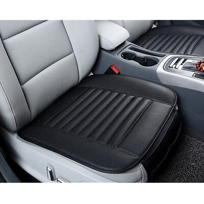 Universal Breathable Bamboo Charcoal PU Leather Auto SUV Car Seat Cover Cushion