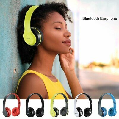 Bluetooth 4.2 Headphones Stereo Headset Wireless Foldable Mic Earphone Earbuds