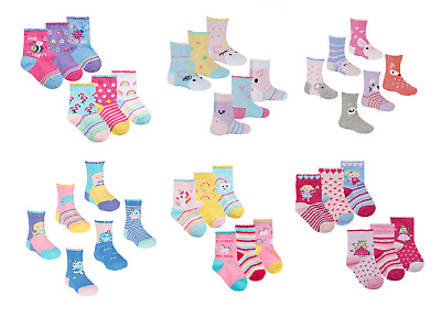Newborn Baby Girl Toddler Pack of 3 Ankle Socks Cute Pink  0-6 6-12 12-18 Months
