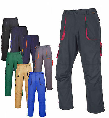 Safety Trouser Portwest TX11 Texo Contrast Elastic Waist Multi Pockets Cargo