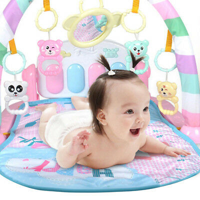 Baby Gym Play Mat Lay+Play 3 in 1 Fitness Music And Lights Fun Piano Boy Girl AU