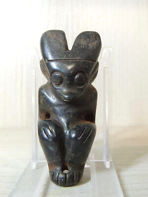 Antique Mongolian Carved Stone Idol figure statuette,god,alien,Amulet