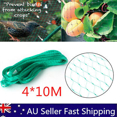 1-5X Knitted Anti Bird Netting Green 4x10m Commercial Pest Net-Fruit Plant Tree