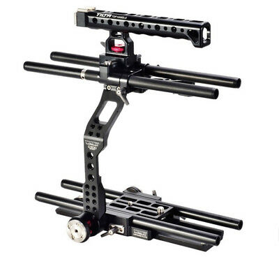 Tilta DSLR 15mm Baseplate Cage Rod Support System Top Handle Kit For Canon C300