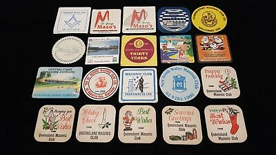 20 Masonic Clubs Beer Coasters Beermats