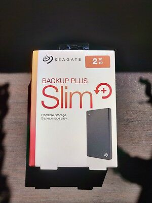 Seagate Backup Plus Slim 2TB,Extern,5400RPM (STDR2000200) Tragbar