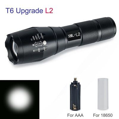 20000LM Taktische X800 Polizei Taschenlampe XML L2 LED Zoomable Military Torch