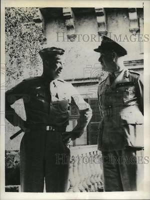 1943 Press Photo Gen Dwight Eisenhower & Marshal Lord Gort Governor of Malta