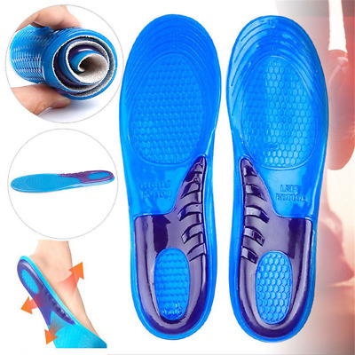 Work Boots Gel Massaging Insoles Orthotic Foot Arch Support Heel Shoe Inserts
