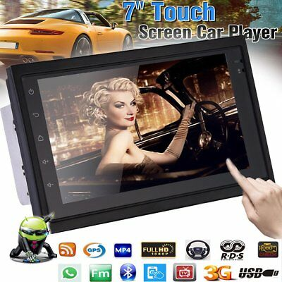 """7"""" Android Quad Core WIFI Double 2DIN Car Radio Stereo MP5 Player HD GPS Sat Nav"""