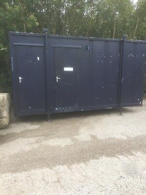 16ft x 8ft Toilet Unit. Site Welfare Office Shipping Container