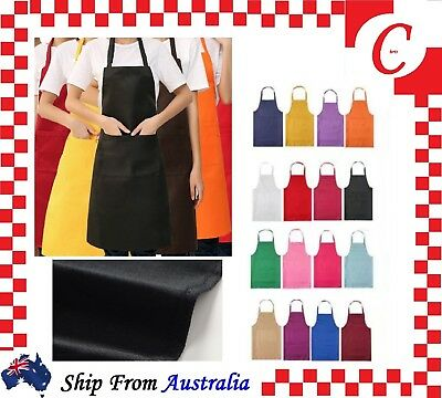 Apron Washable Water Proof Pocket Butcher Waiter Chef Kitchen Cooking Craft