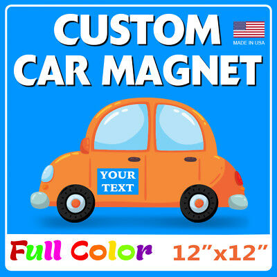 2 - 12 X 12 Custom Car Magnets  Magnetic Auto Truck Signs
