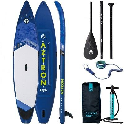AZTRON NEPTUNE 12.6 Touring DOPPELKAMMER SUP ISUP Stand Up Paddle Board Paddling